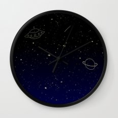 Space Trip to Saturn Wall Clock