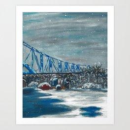 Winter Cass Street Bridge 4 of 4 Art Print