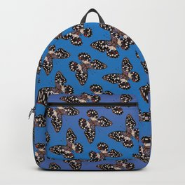 Common Lime Butterfly - Black, Blue & Lilac Backpack