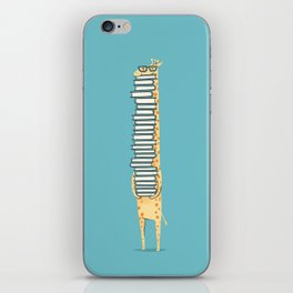 A Book Lover (blue) iPhone Skin