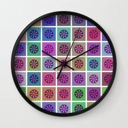 Tessellating Flora Wall Clock