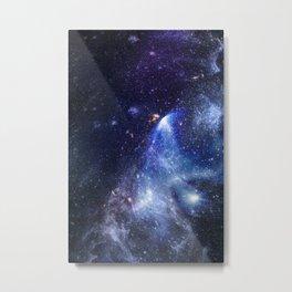 Blue Cosmic Galaxy Metal Print