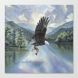 Eagle with Fish Canvas Print
