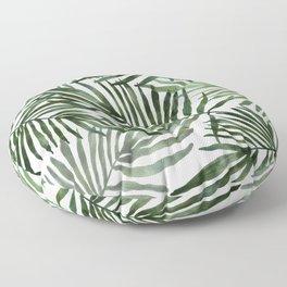 Watercolor simple leaves Floor Pillow
