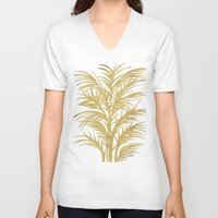 palms V-neck T-shirts featuring Gold Palms by Cat Coquillette