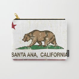 Santa Ana California Republic Flag Distressed  Carry-All Pouch