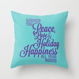 Year Round Holiday Happiness Throw Pillow
