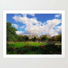 Garden of Tuileries Art Print