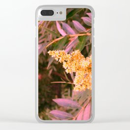 Pale Yellow and Green Sideways Sumac Clear iPhone Case