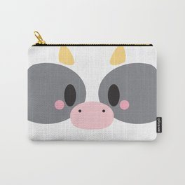Cow Block Carry-All Pouch