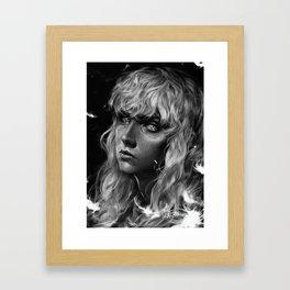 The White Hawk Framed Art Print