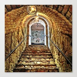 Castle Stairs Canvas Print