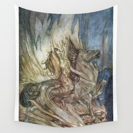 Brünnhilde on Grane Wall Tapestry