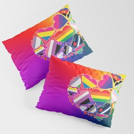LGBTQA+ Community Pride Heart Pillow Sham