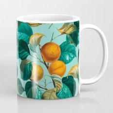 Peach and Leaf Pattern Mug