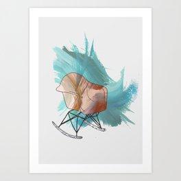 Chair Icon Art Print