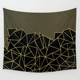 Ab Lines 45 Gold Wall Tapestry