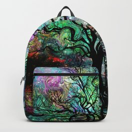 Van Goghs Aurora Borealis Reflection Backpack