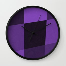 Abstract Ultra Violet Palette Wall Clock