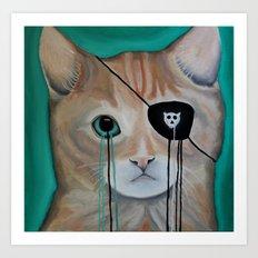 Kit Furry Art Print