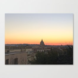 Rome Sunset Canvas Print
