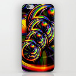 Creations in the color spectrum of the rainbow 3 iPhone Skin