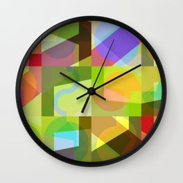Colorful Truth. Shuffle 1 Wall Clock