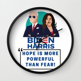 Biden Harris 2020 - Hope Is More Powerful Than Fear - 2020 US Election Wall Clock