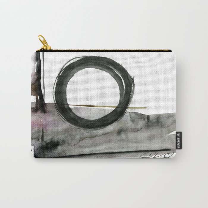 Enso Abstraction No. 112 by Kathy morton Stanion Carry-All Pouch