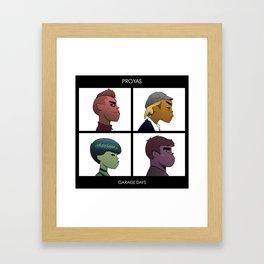 Garage Days Framed Art Print