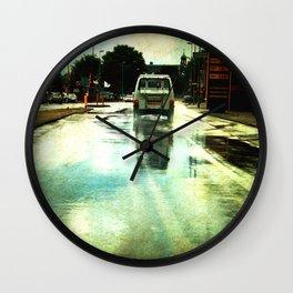 on a Dutch rainy day Wall Clock