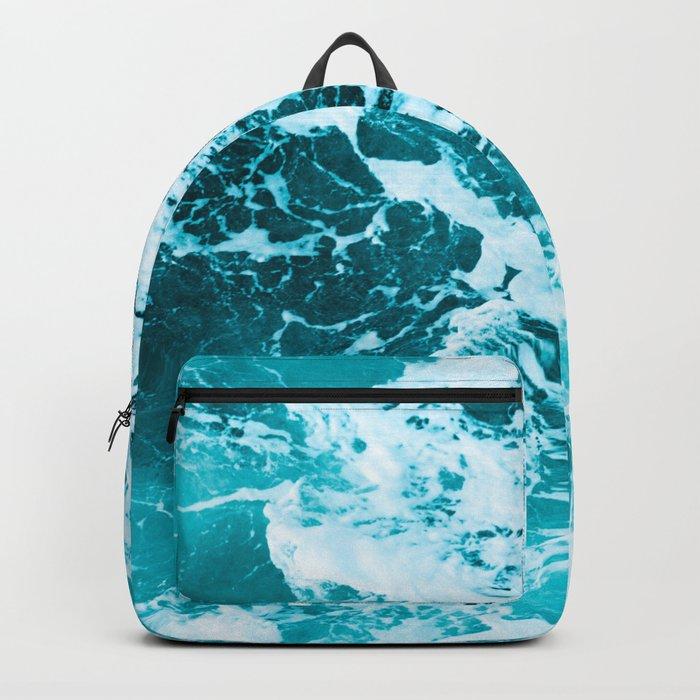 Deep Turquoise Sea Backpack