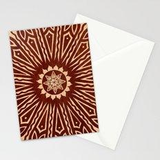 ozorahmi wood mandala Stationery Cards