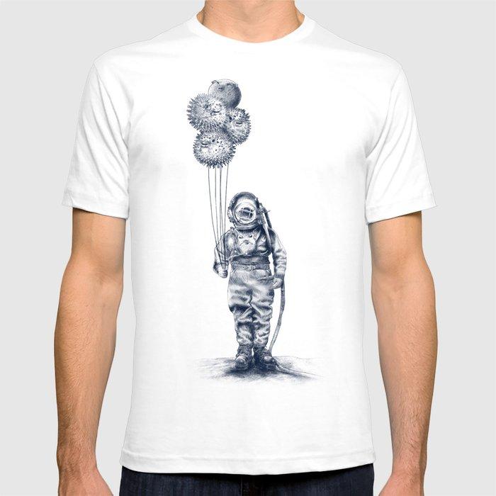 Balloon Fish - monochrome option T-shirt