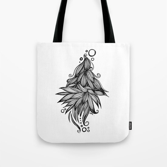Ornate tangle wave form Tote Bag