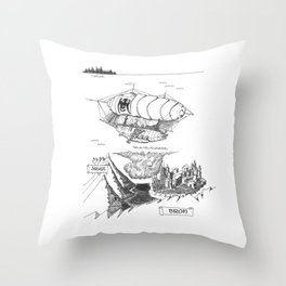 SIREN'S FURY Map (Siren's Fury) Throw Pillow