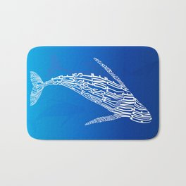 Whale song Bath Mat