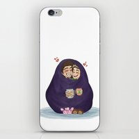 blankets iPhone & iPod Skins featuring blankets-burrito by smargo64