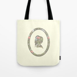 floral silhouette Tote Bag