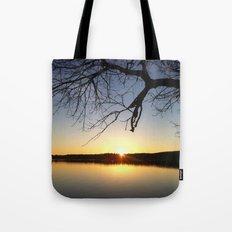 Yellow Sunset at the Lake Tote Bag