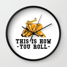 This Is How You Roll Gift Wall Clock