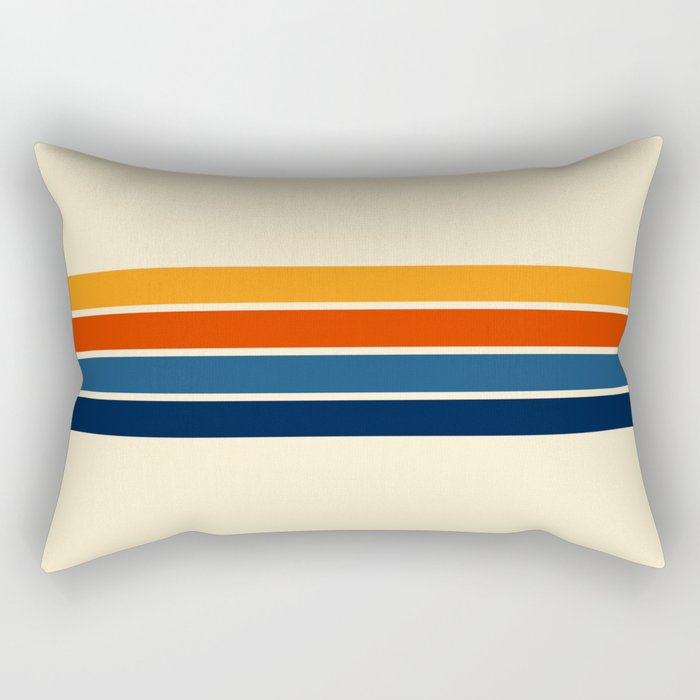 Classic Retro Stripes Rectangular Pillow