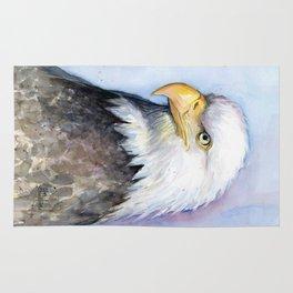 Bald Eagle Watercolor Bird Wildlife Animals Rug