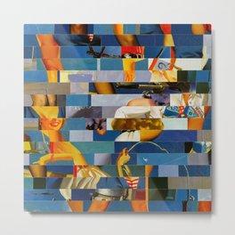 Shiver Me Ikea Timbers (Provenance Series) Metal Print