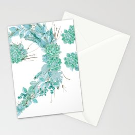 Succulent Fa key Stationery Cards