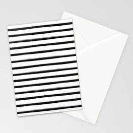 Stripes, Scandinavian, Minimal, Pattern, Modern art Stationery Cards