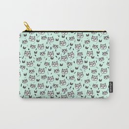 Mint Chip Meow Carry-All Pouch