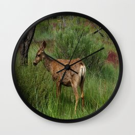 Breakfast At Mesa Verde Wall Clock