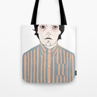 stripes Tote Bags featuring Stripes by Le Butthead