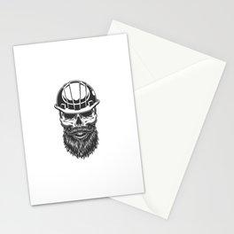Skull Miner Helmet Stationery Cards